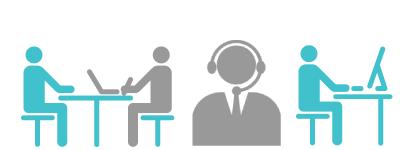 導入時に、サポートスタッフが取材を行います。運用中はサポート担当者がしっかりとフォローいたします。